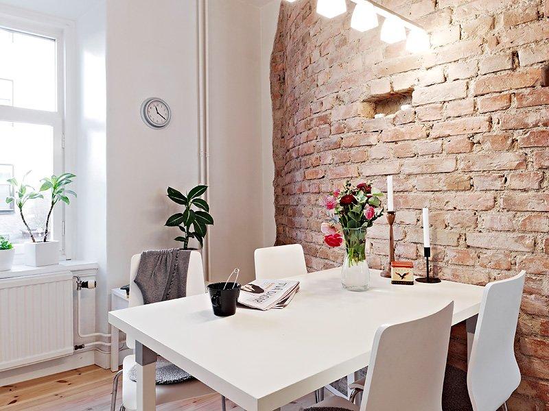 Кирпич дизайне квартиры
