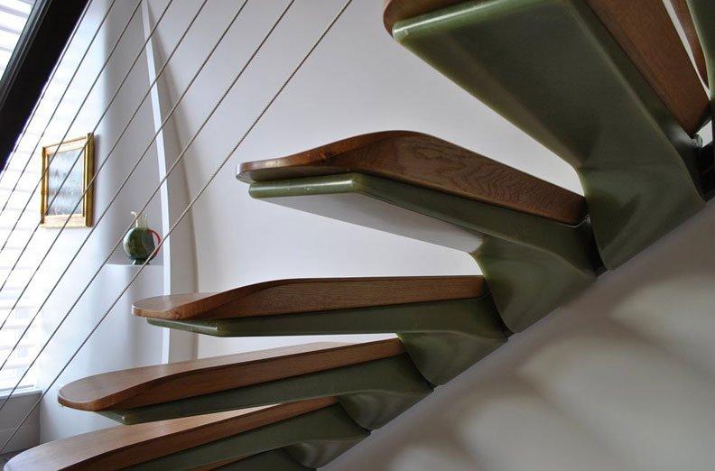 дизайн лестниц в частном доме фото