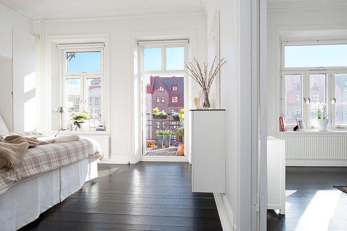 белый интерьер квартиры фото
