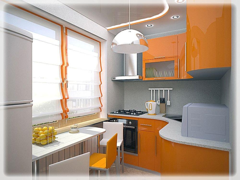 Дизайн интерьера кухни 6 м