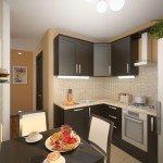 дизайн узкой кухни 11 кв м фото