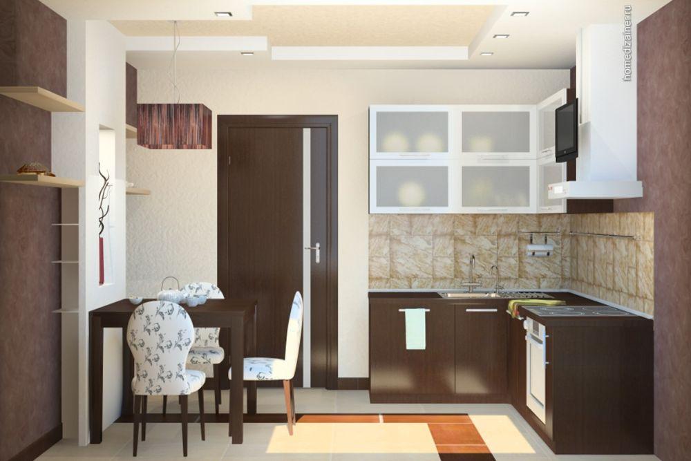 Дизайн интерьера кухни 9 кв м фото