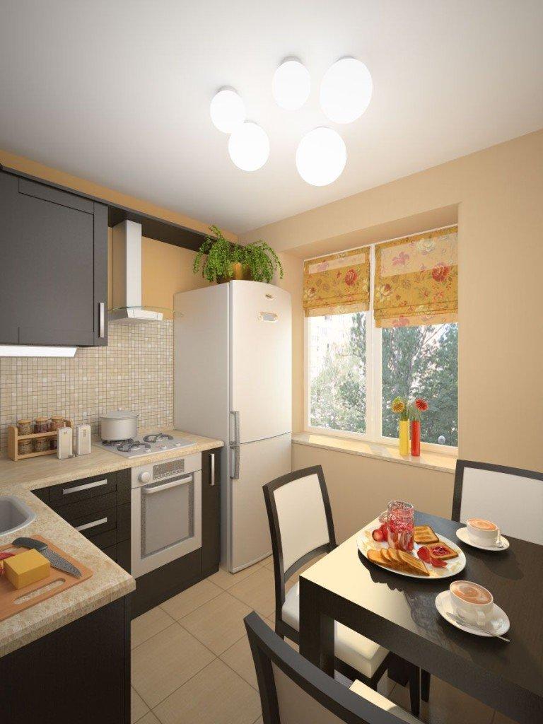 Дизайн современной кухни 9 кв м 68