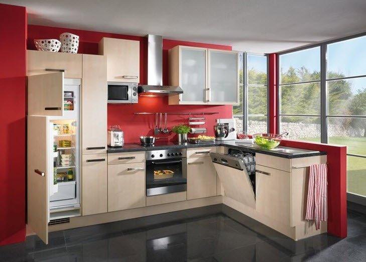 Дизайны встроенных кухонь