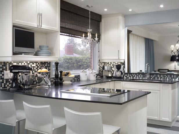Красно черный дизайн кухни