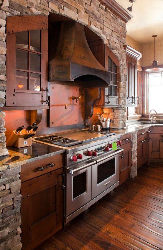 Дизайн деревенской кухни фото