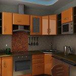 угловая маленькая кухня фото