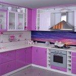 угловой кухонный гарнитур для маленькой кухни фото