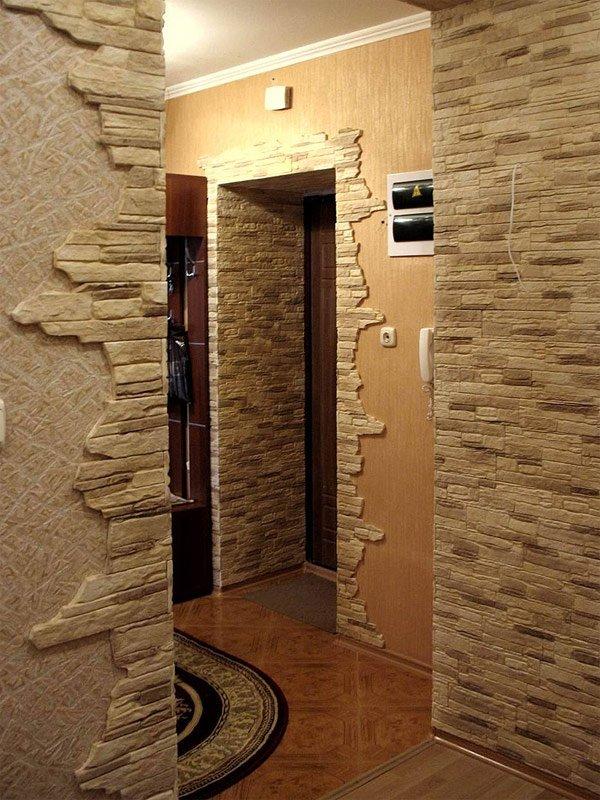Отделка комнаты искусственным камнем фото