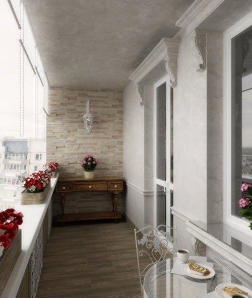 Оригинальная идея преобразования интерьера балкона в панельн.