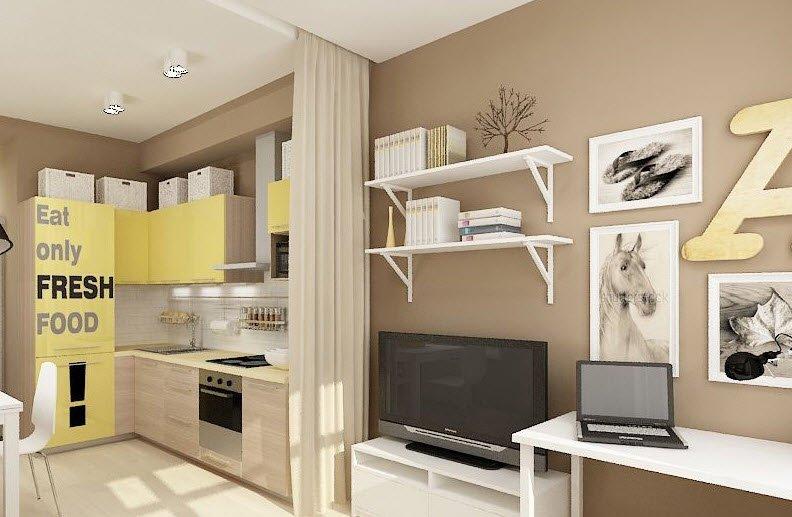 Дизайн квартиры студии 27 кв м