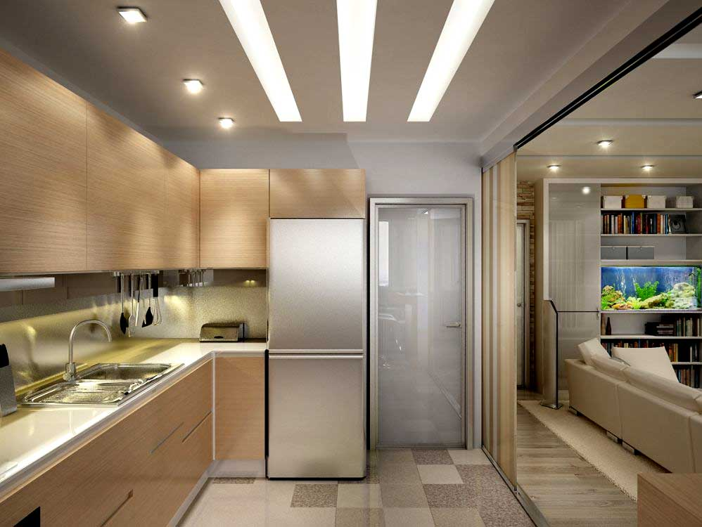 Фото кухни дизайн для маленькой квартиры