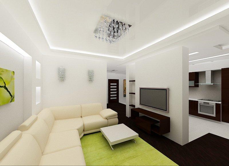 Дизайн потолка в зале фото