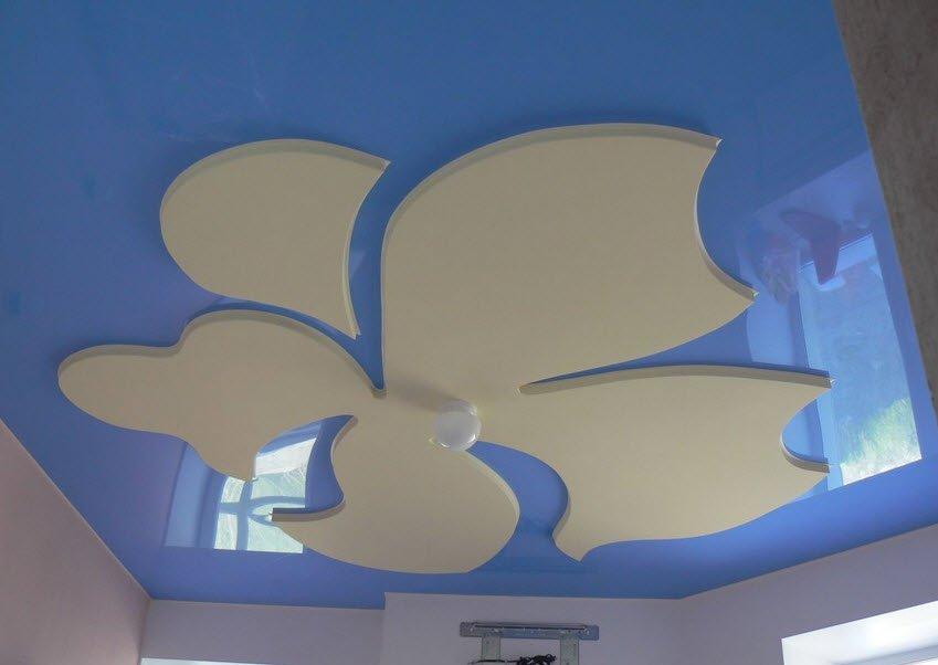 в потолки натяжные с детской фото гипсокартоном