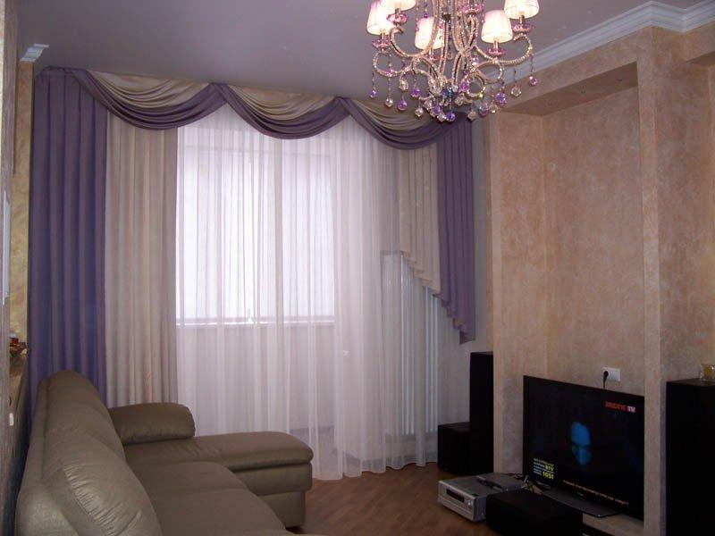 Шторы фото в квартиру в зал