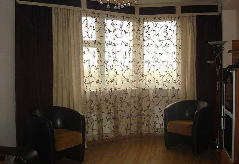 Красивые шторы в зал своими руками фото