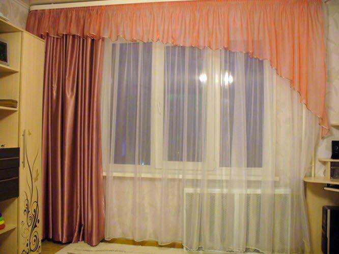 Простые шторы для зала фото