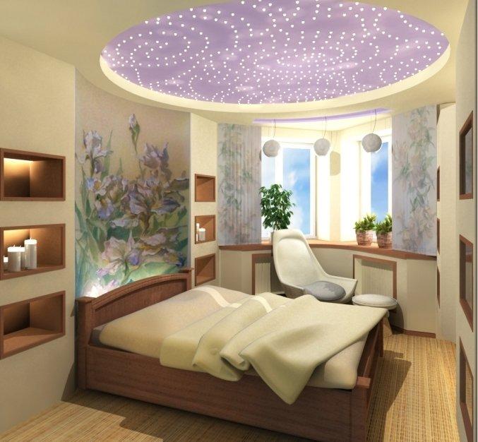 Комната эркер спальня дизайн