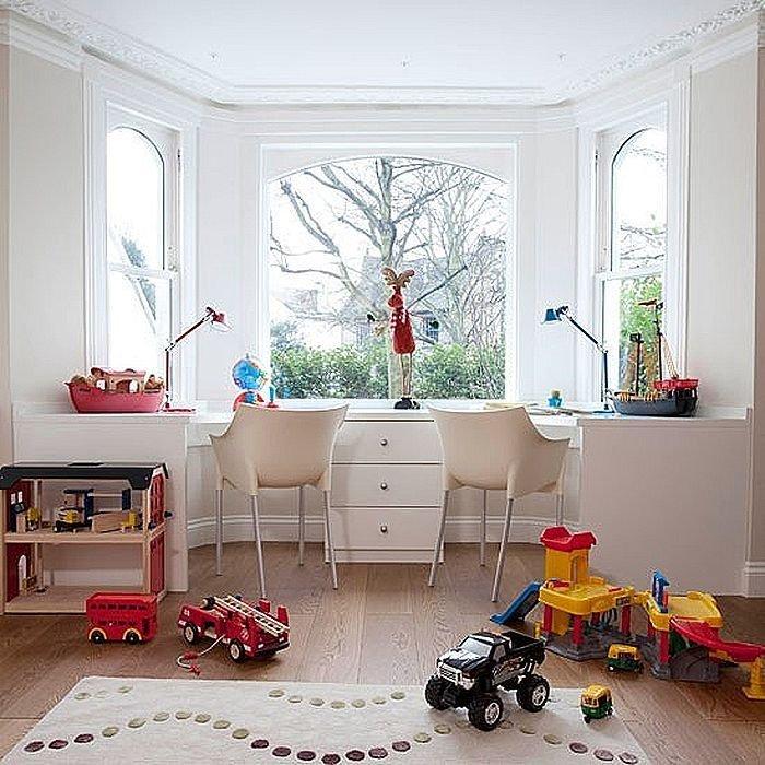 Дизайн детской с эркерным окном