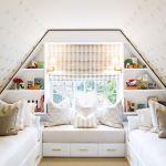 интерьер спальни на мансарде фото