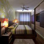 дизайн узкой и длинной спальни