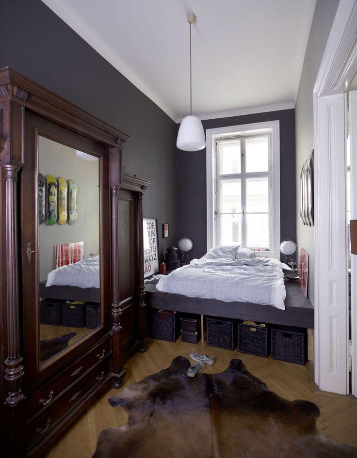 Интерьер узкой спальни фото