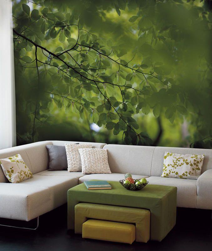 Дизайн гостиной с фотообоями фото