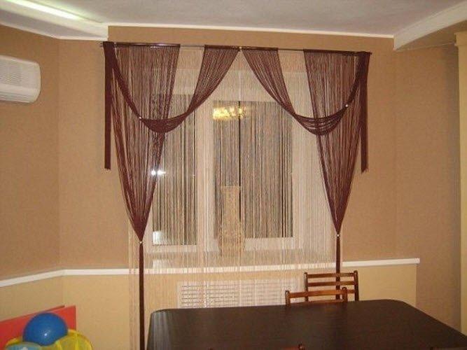 Дизайн штор нитей на кухню