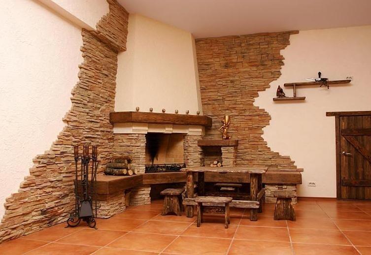 Дизайн камінів з каменю