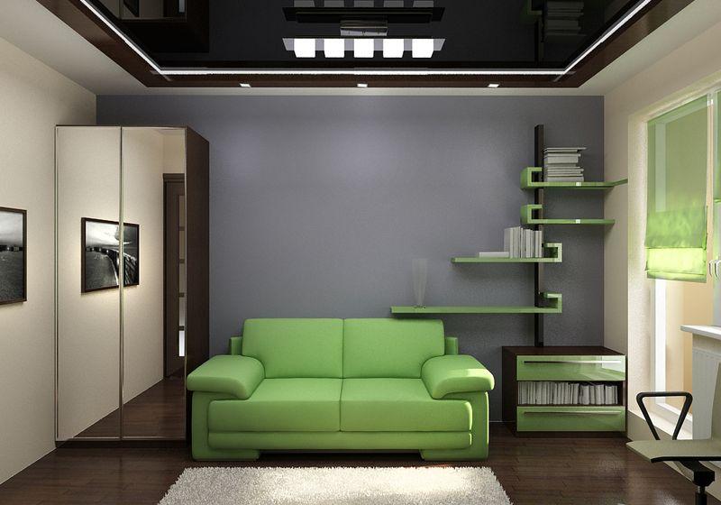 Дизайн интерьера комнаты 12 кв м