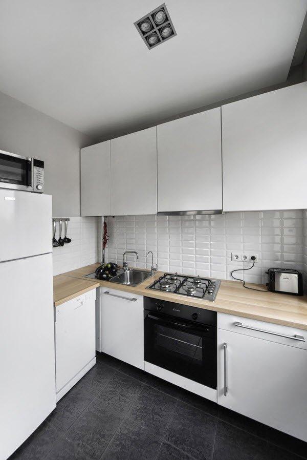 Дизайн кухни в однокомнатной квартире в хрущевке