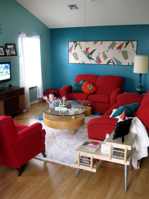 40 for Burgundy and turquoise living room