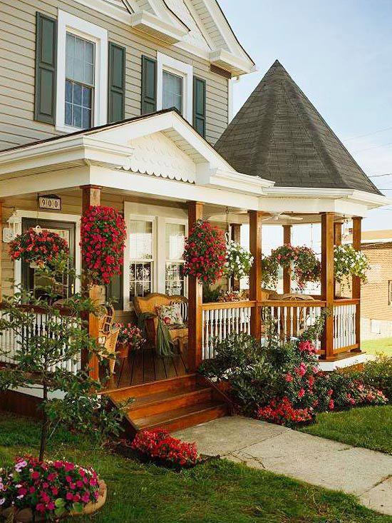 Красивое крыльцо частного дома фото своими руками