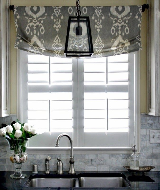 Upper catchy curtains window treatment ideas for kitchens