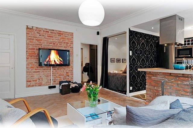 Дизайн небольшой однокомнатной квартиры