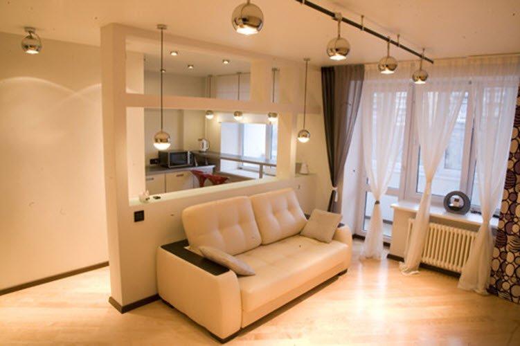 """дизайн двухкомнатной квартиры 48 кв.м фото зонирование """" Креативный дизайн"""