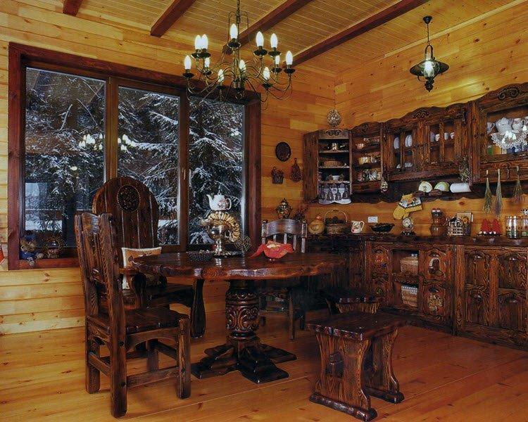 Фото интерьер кухни под старину