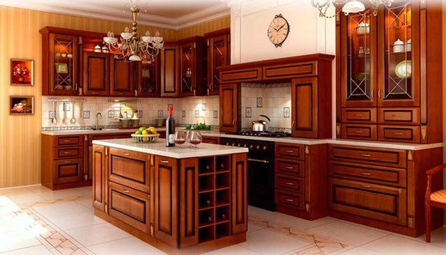 кухни из массива дерева?