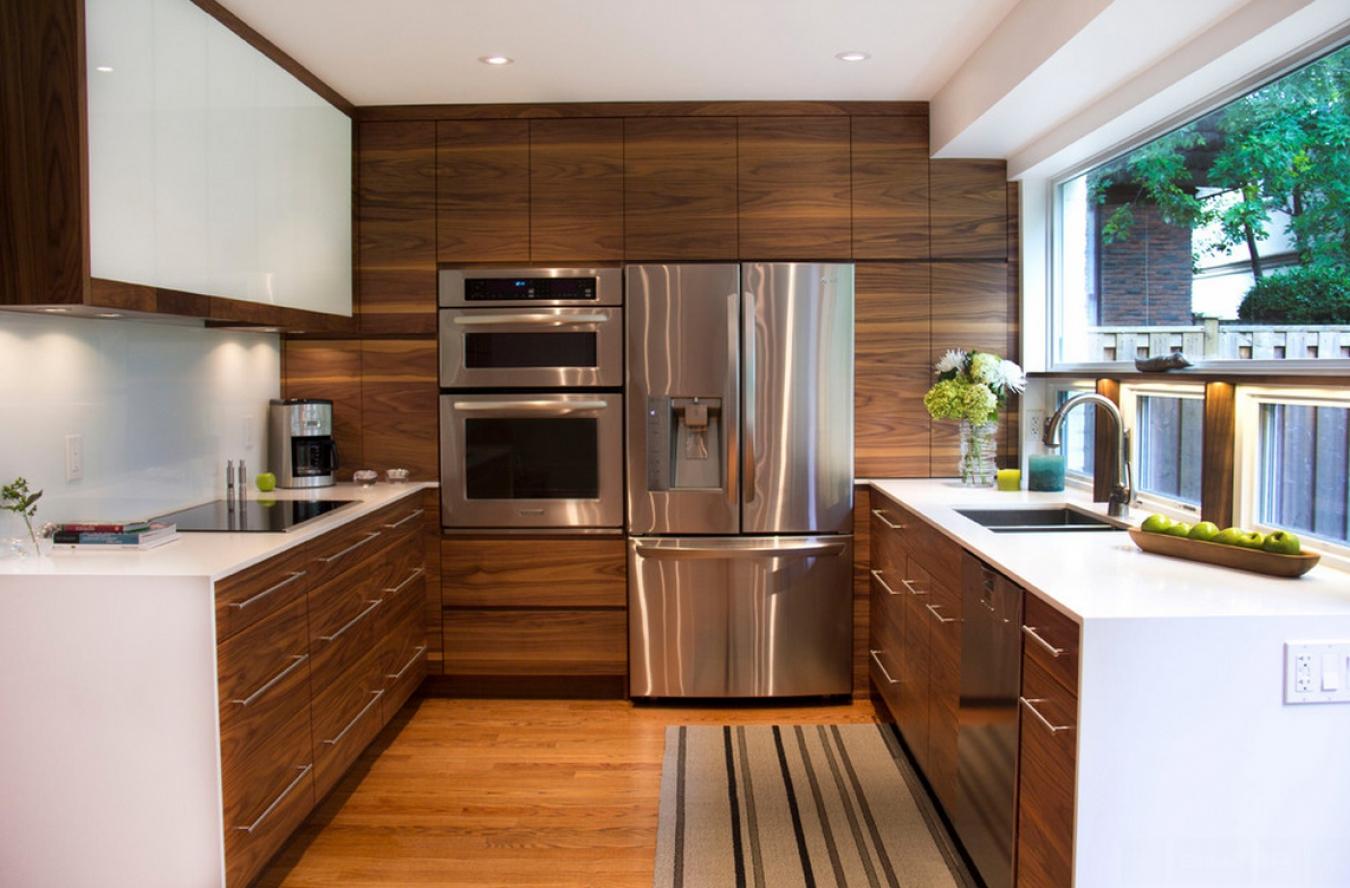 Деревянные стильные кухни