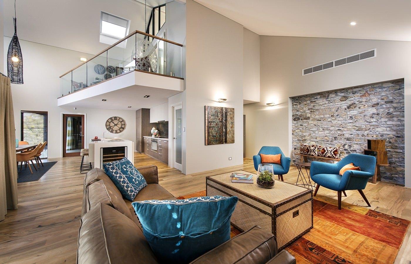 Интерьеры гостиных загородных домов