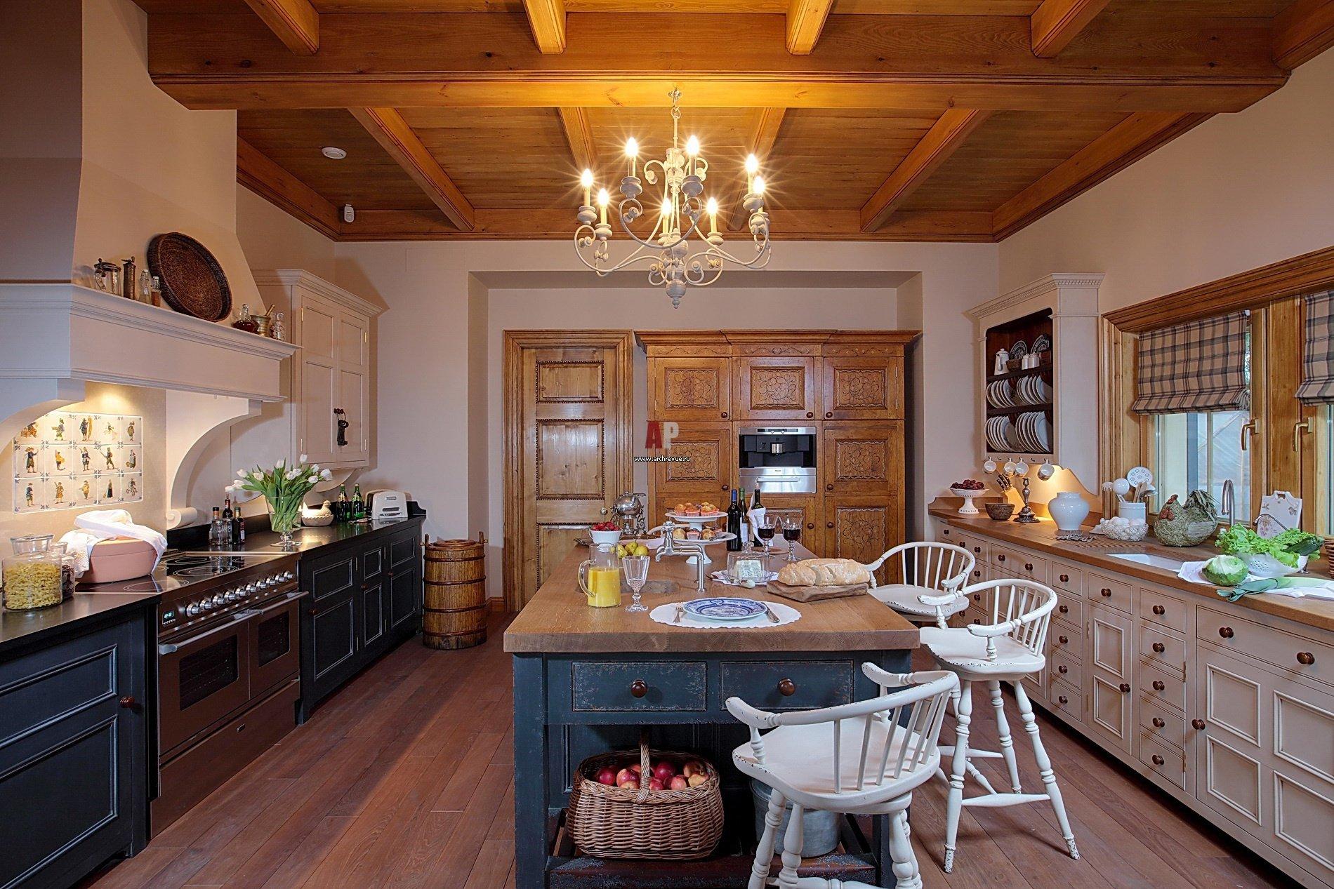 Дизайн интерьера кухни в старых домах 8