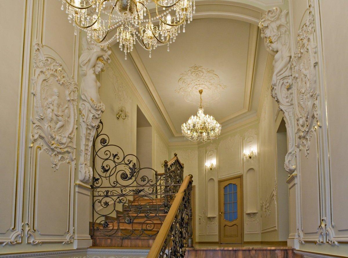Фото дизайн арок из лепнины