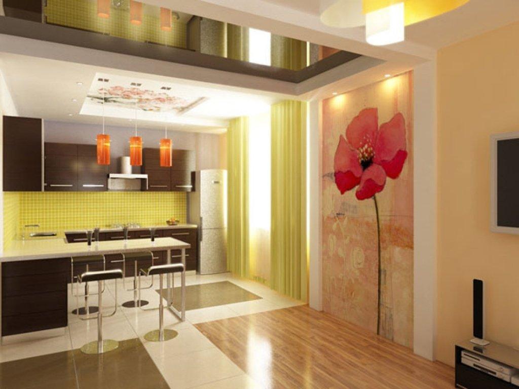 Интерьер стен на кухне