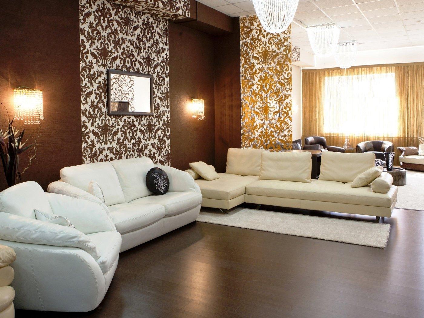 Дизайн гостиной в двух цветах фото
