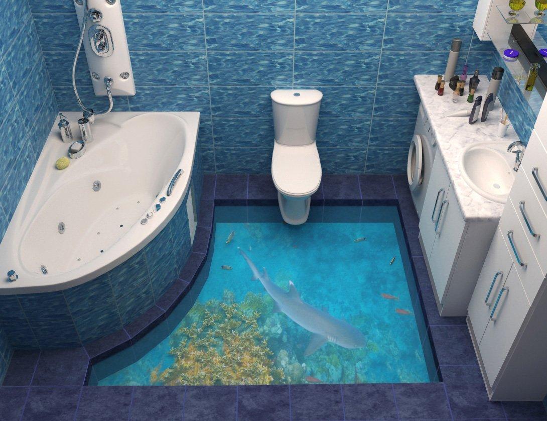 Ванная комната туалет дизайн 3д полы фото