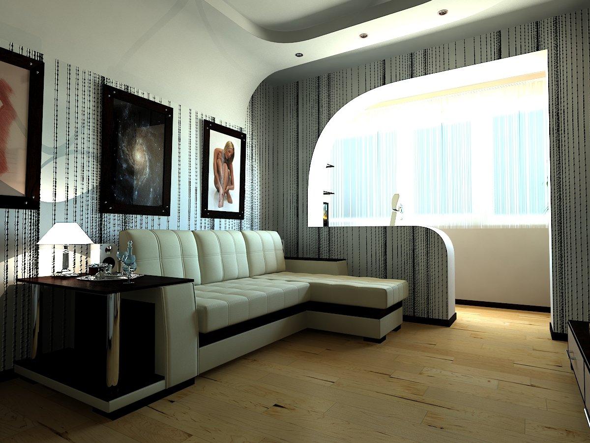 Интерьер зала однокомнатной квартиры фото