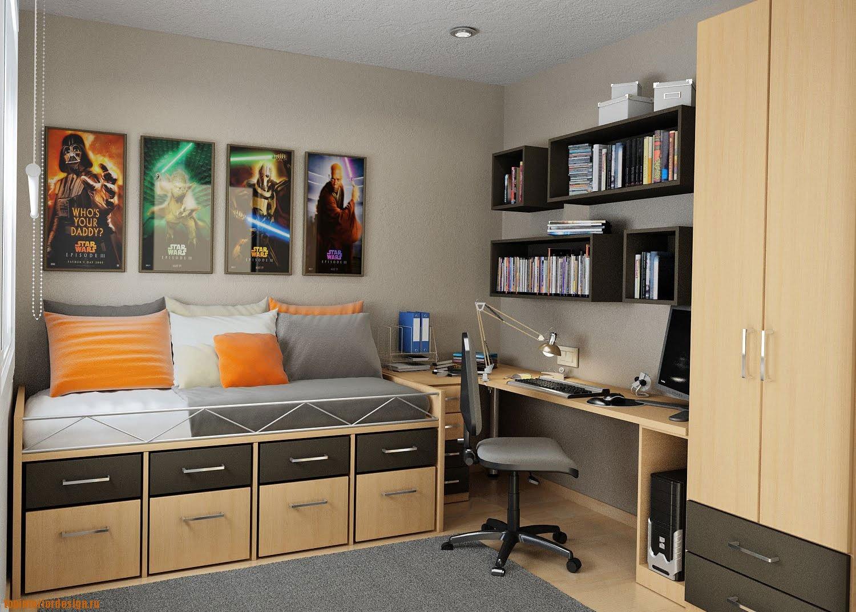 Интерьер для спальни подростка мальчика дизайн