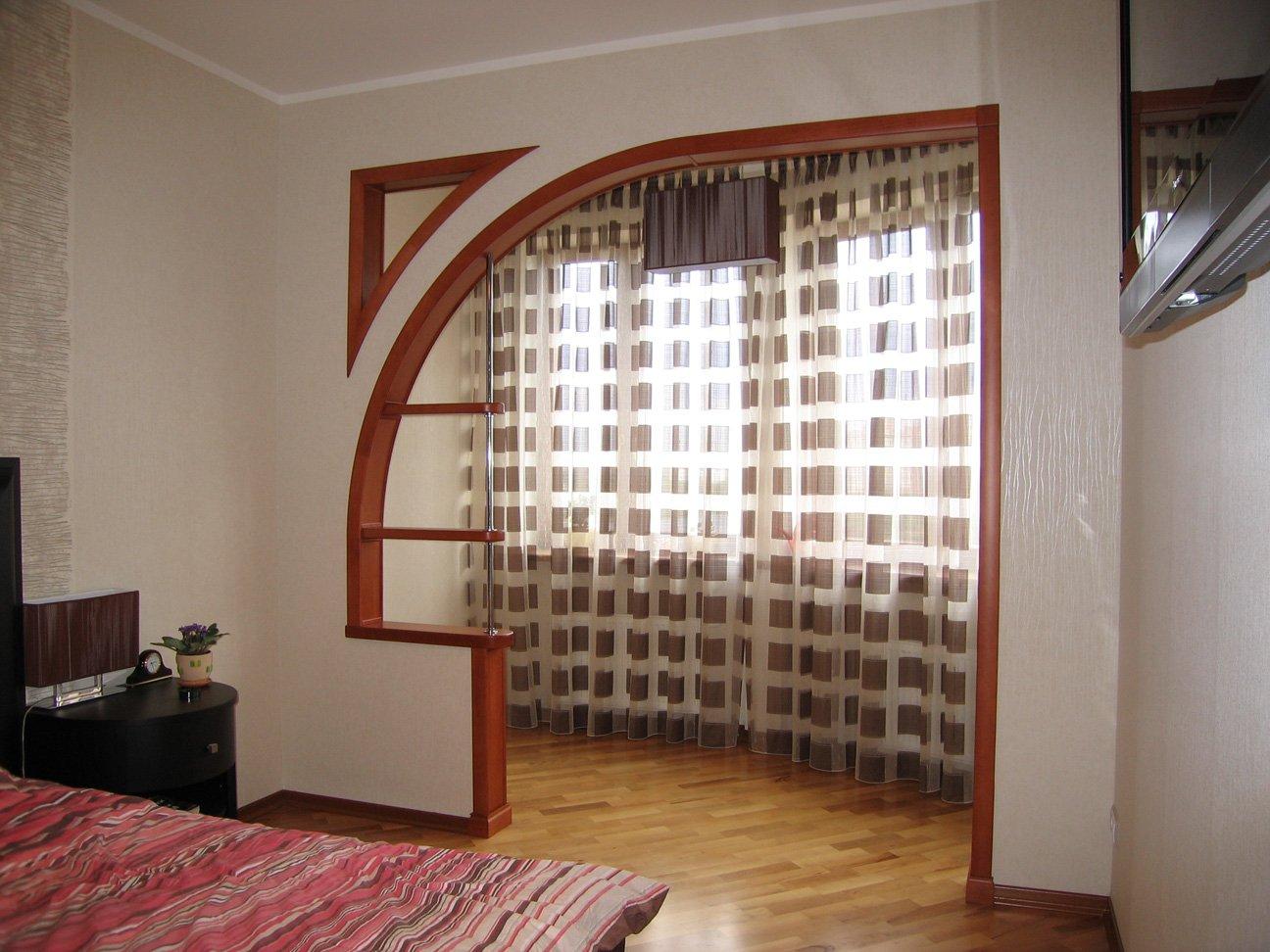 Дизайн арки на балкон..