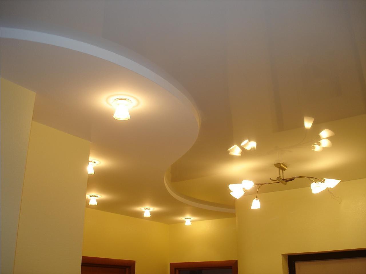 Оригинальное оформление потолка