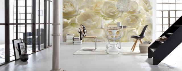 фотообои белые розы в интерьере фото